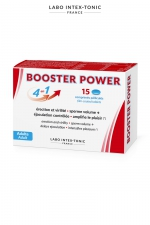 Aphrodisiaque masculin Booster Power (15 comprimés) : Aphrodisiaque masculin 4 en 1 : améliore l'érection, augmente le volume de sperme, contrôle l'éjaculation, accroit le plaisir (boite de 15 comprimés).