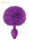 Plug queue de lapin - violet
